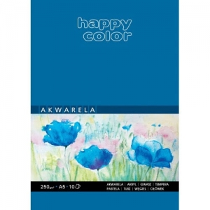 Blok do akwareli Happy Color A5 250 g 10 ark.