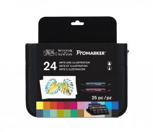 Zestaw Winsor&Newton Promarker Arts and Illustration 24 szt.