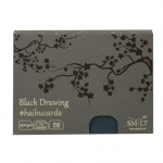 SM-LT Haiku cards 300 g 147x106 mm 24 k. czarne