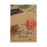 Blok do akwareli SM-LT Start Pad Watercolor A5 240 g 20 ark