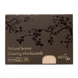 SM-LT Haiku cards 325 g 147x106 mm 22 k. natural brown