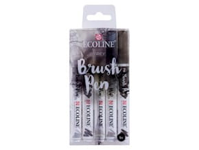 Markery Talens Ecoline Brush Pen Grey 5 szt.