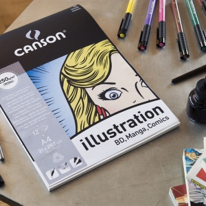 Blok do mangi i komiksu Canson Illustration A4 250g 12 ark.