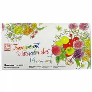 Farby akwarelowe transparentne Kuretake Transparent Watercolor Set