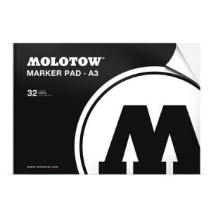 Blok to markerów MOLOTOW Basic Marker Pad White A3 120g 32 ark