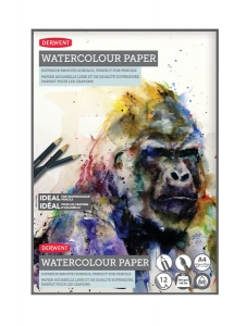 Blok do akwareli Derwent Watercolor Pad A4 300 g 12 ark.