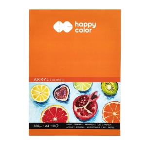 Blok do akryli Happy Color Akryl A4, 360g, 10 ark