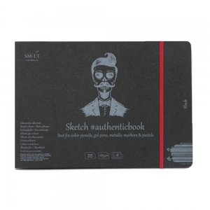 Blok SM-LT #authenticbook z czarnymi kartkami 245x176 mm 165 g