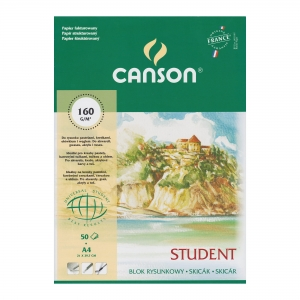 Blok rysunkowy Canson Student A4 160g 50 ark